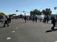 Protest against police violence stalls traffic near campus