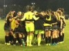The Lady Mustangs huddle up after defeating DVC on Nov. 13 for the team's 15th victory.