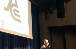 Journalist Joaquin Alvarado addresses students at the Journalism Association of Community Colleges' NorCal Conference at San Joaquin Delta College on Nov. 3.
